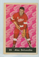 1961-62 Parkhurst Hockey 25 Alex Delvecchio Detroit Red Wings Near-Mint