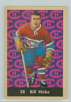 1961-62 Parkhurst Hockey 38 Bill Hicke Montreal Canadiens Near-Mint