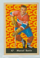 1961-62 Parkhurst Hockey 47 Marcel Bonin Montreal Canadiens Near-Mint to Mint