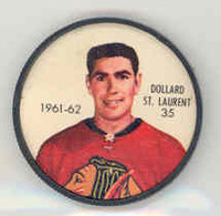 1961-62 Shiriff Hockey Coins 35 Dollard St. Laurent Chicago Black Hawks Near-Mint