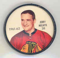 1961-62 Shiriff Hockey Coins 38 Gerry Melnyk Chicago Black Hawks Near-Mint