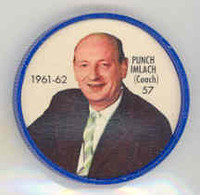 1961-62 Shiriff Hockey Coins 57 Punch Imlach Toronto Maple Leafs Near-Mint