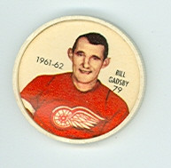 1961-62 Shiriff Hockey Coins 79 Bill Gadsby Detroit Red Wings Near-Mint Plus