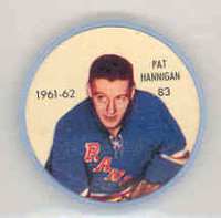 1961-62 Shiriff Hockey Coins 83 Pat Hannigan New York Rangers Near-Mint