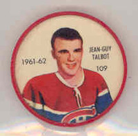 1961-62 Shiriff Hockey Coins 109 Jean-Guy Talbot Montreal Canadiens Near-Mint