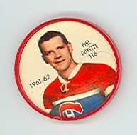 1961-62 Shiriff Hockey Coins 116 Phil Goyette Montreal Canadiens Excellent to Mint