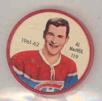 1961-62 Shiriff Hockey Coins 119 Al MacNeil Montreal Canadiens Near-Mint