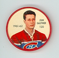 1961-62 Shiriff Hockey Coins 120 Jean Gauthier Montreal Canadiens Excellent to Mint