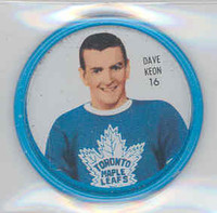 1962-63 Shiriff Hockey Coins 16 Dave Keon Toronto Maple Leafs Excellent to Mint
