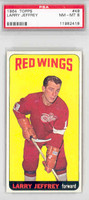 1964-65 Topps Hockey 49 Larry Jeffrey Detroit Red Wings PSA 8 Near Mint to Mint