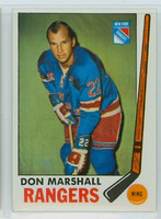 1969-70 Topps Hockey 39 Don Marshall New York Rangers Near-Mint Plus