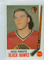 1969-70 Topps Hockey 68 Gilles Marotte Chicago Black Hawks Excellent to Mint
