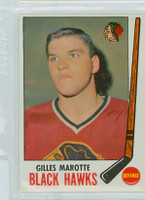 1969-70 Topps Hockey 68 Gilles Marotte Chicago Black Hawks Near-Mint