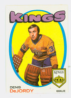1971-72 OPC Hockey 63 Denis Dejordy Los Angeles Kings Excellent to Mint