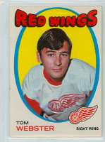 1971-72 OPC Hockey 78 Tom Webster Detroit Red Wings Excellent to Mint