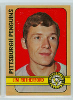 1972-73 OPC Hockey 15 Jim Rutherford ROOKIE Pittsburgh Penguins Near-Mint