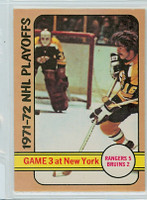 1972-73 OPC Hockey 30 Playoffs Game Three Excellent to Mint