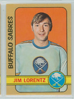 1972-73 OPC Hockey 116 Jim Lorentz Buffalo Sabres Near-Mint