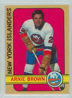 1972-73 OPC Hockey 144 Arnie Brown New York Islanders Near-Mint