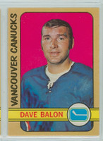 1972-73 OPC Hockey 162 Dave Balon Vancouver Canucks Excellent to Mint