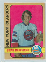 1972-73 OPC Hockey 179 Brian Marchiko New York Islanders Excellent to Mint