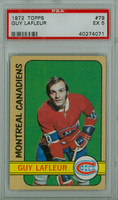 1972-73 Topps Hockey 79 Guy Lafleur Montreal Canadiens PSA 5 Excellent