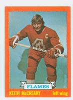 1973-74 Topps Hockey Keith McCreary Atlanta Flames Near-Mint Plus