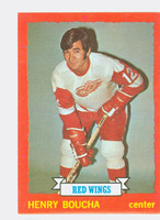 1973-74 Topps Hockey Henry Boucha Detroit Red Wings Near-Mint