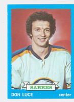 1973-74 Topps Hockey Don Luce Buffalo Sabres Near-Mint