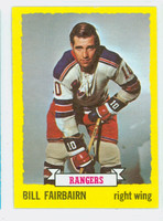1973-74 Topps Hockey Bill Fairbairn New York Rangers Near-Mint
