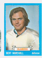 1973-74 Topps Hockey Bert Marshall New York Islanders Near-Mint Plus