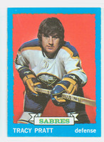 1973-74 Topps Hockey Tracy Pratt Buffalo Sabres Near-Mint