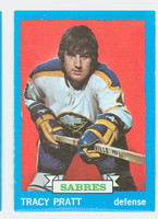 1973-74 Topps Hockey Tracy Pratt Buffalo Sabres Near-Mint Plus