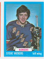 1973-74 Topps Hockey Steve Vickers New York Rangers Near-Mint