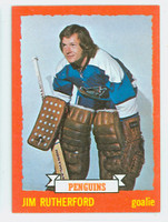 1973-74 Topps Hockey Jim Rutherford Pittsburgh Penguins Near-Mint