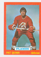1973-74 Topps Hockey Pat Quinn Atlanta Flames Near-Mint