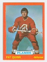 1973-74 Topps Hockey Pat Quinn Atlanta Flames Near-Mint Plus