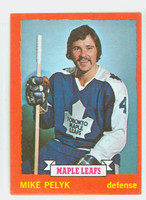 1973-74 Topps Hockey Mike Pelyk Toronto Maple Leafs Near-Mint
