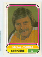 1975-76 OPC WHA Hockey Serge Aubrey Cincinnati Stingers Near-Mint Plus