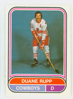 1975-76 OPC WHA Hockey Duane Rupp Calgary Cowboys Near-Mint Plus