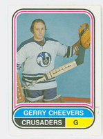 1975-76 OPC WHA Hockey Gerry Cheevers Cleveland Crusaders Near-Mint