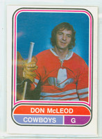1975-76 OPC WHA Hockey Don McLeod Calgary Cowboys Excellent to Excellent Plus