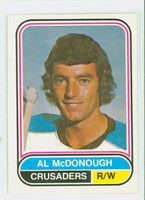 1975-76 OPC WHA Hockey Al McDonough Cleveland Crusaders Near-Mint