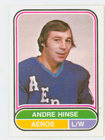1975-76 OPC WHA Hockey Andre Hinse Houston Aeros Near-Mint Plus