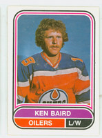 1975-76 OPC WHA Hockey Ken Baird Edmonton Oilers Near-Mint Plus