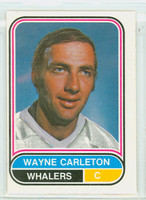 1975-76 OPC WHA Hockey Wayne Carleton New England Whalers Excellent to Excellent Plus