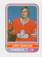 1975-76 OPC WHA Hockey Larry Israelson Calgary Cowboys Near-Mint Plus
