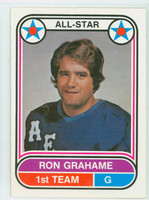 1975-76 OPC WHA Hockey Ron Grahame Houston Aeros Near-Mint