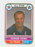 1975-76 OPC WHA Hockey Gordie Howe Houston Aeros Near-Mint