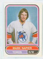 1975-76 OPC WHA Hockey Mark Napier Toronto Toros Excellent to Mint